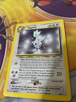 Togetic 16/111 Neo Genesis Holo Rare Pokemon Card NM With Holo Swirl