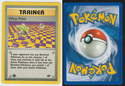 Tracking 1st Edition Gym Challenge Pokemon Card Warp Point 126/132