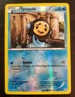 Tympole BW Dragons Exalted REVERSE HOLO Pokemon TCG Card 34/124 Excellent!!