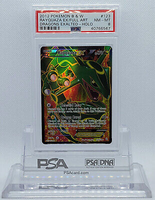Pokemon Dragons Exalted Rayquaza Ex #123 Full Art Holo Foil Card Psa 8 Nm-mt #*