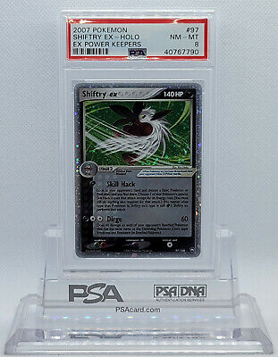 Pokemon Ex Power Keepers Shiftry Ex #97 Ultra Rare Holo Foil Card Psa 8 Nm-mt #*
