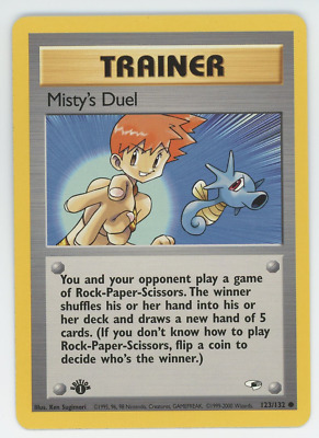 Misty's Duel 123/132 NM Pokemon Card Gym Heroes 1st Edition Common 2000 WOTC