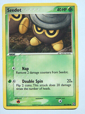 Seedot 60/108 (LP, Pokemon Card, EX Power Keepers, 2007, Grass, Common)