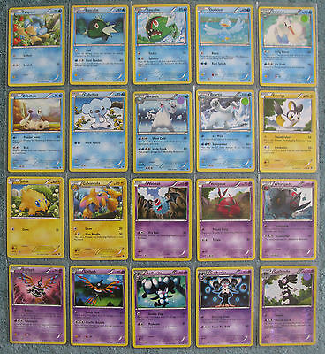 Pokemon TCG B&W Emerging Powers Holo, Rare, Uncommon & Common Cards [Part 2/4]