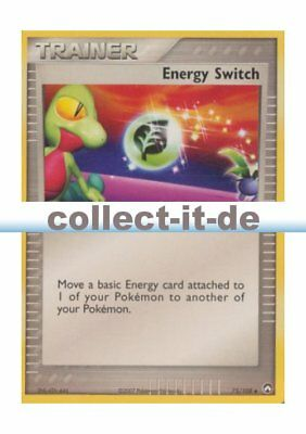 Pokemon EX Power Keepers - 75/108 - Trainer - Energy Switch - ENGLISCH