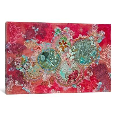 Sculptures Nieve Multi Colored Canvas Wall