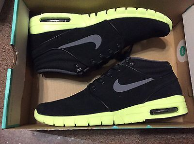 6f9103773d0 NIKE MEN S SB STEFAN JANOSKI MAX MID L BLACK VOLT 807509 007 NO BOX TOP SZ