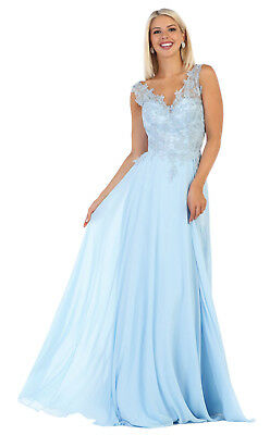 502a43d1aff SPECIAL OCCASION CHIFFON GOWNS FORMAL LONG EVENING MESH PROM DRESSES   PLUS  SIZE