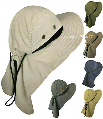 6c0d4670834f52 Men Women Boonie Hat With Neck Flap Fishing Hiking Outdoor UV Protection  Sun Hat