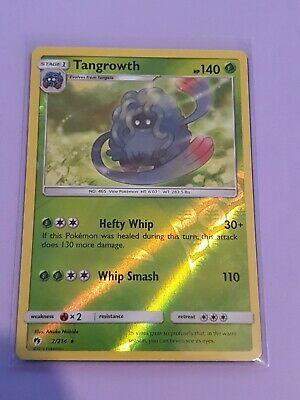 Sun & Moon Lost Thunder Pokemon Card Rare Reverse Holofoil Tangrowth 2/214