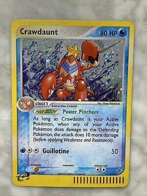 Crawdaunt 3/97 EX Dragon HOLO RARE Pokemon Card in MP Condition