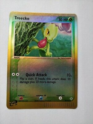 Pokemon Card Treecko 80/97 Ex Dragon Reverse Holo Common