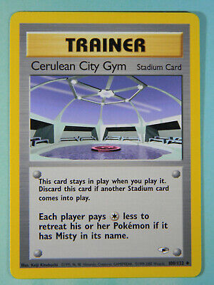 Cerulean City Gym Trainer Pokemon Gym Heroes Card 108/132 Uncommon VG NM PreOwn