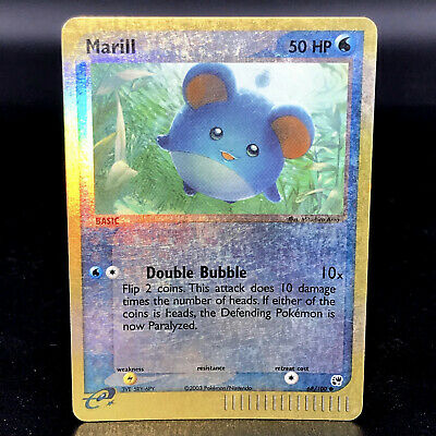 Marill Reverse Holo - EX Sandstorm 68/100 - Common Pokemon Card