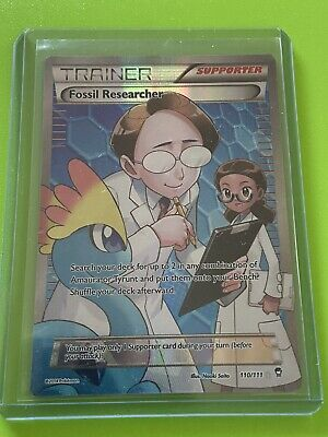 Pokemon TGC XY Furious fists Fossil researcher Full art rare 110/111 NM