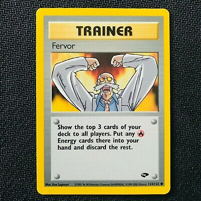 Pokemon 2000 Gym Challenge Unlimited Fervor 124/132 Common Trainer NM/Mint
