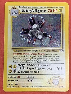 Lt. Surge's Magneton 8/132 Holo - Gym Heroes - Light Play LP - Pokemon