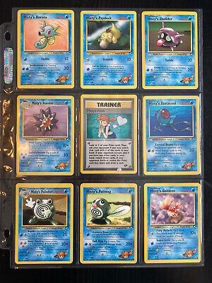 9 Pokemon cards Misty's Wish Poliwhirl POKEMON CARD Gym Challenge/Heroes WOTC