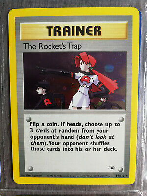 Pokemon Trainer Gym Heroes, Englisch, 19/132, The Rocket´s Trap, Holo