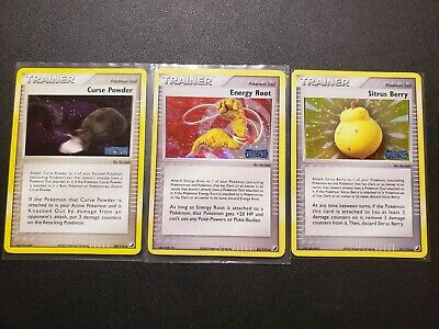 Pokemon Unseen Forces Energy Root 83/115 Sitrus Berry 91/115 Curse Powder 80/115