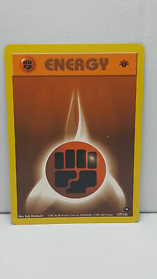 Pokemon Card Fighting Energy 1st Edition Gym Challenge Common Mint