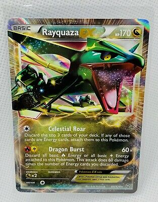 Pokemon Card Rayquaza EX 85/124 Dragons Exalted Set ULTRA RARE HOLO NM PSA??
