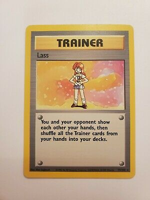 75/102 Lass - Base Set - Rare Pokemon TCG Trainer Card NM Condition Never Played