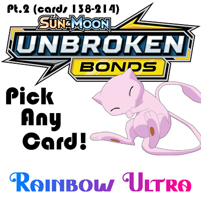 Pokemon TCG Unbroken Bonds Singles. Pick Any Card! Part 2! (Cards 139-214)