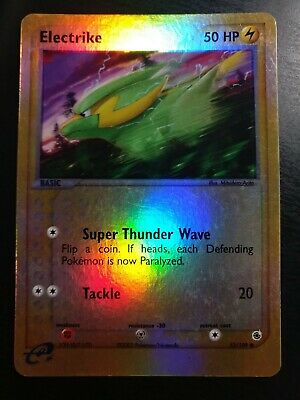 Pokemon TCG - Electrike 53/109 EX Ruby and Sapphire Reverse Holo Card - LP