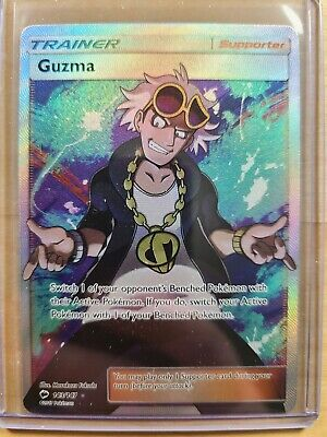 2017 Pokemon TCG Burning Shadows Guzma (Trainer) 143/147 Ultra Rare Full Art