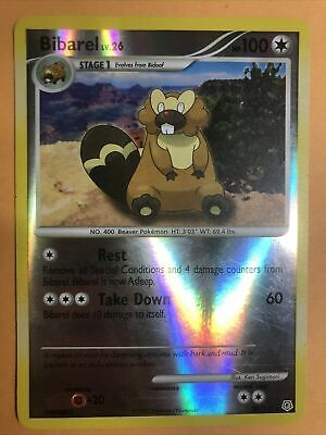 Bibarel 20/130 Diamond And Pearl Reverse Holographic Pokemon Card