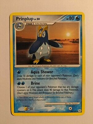 Pokemon Card Prinplup 58/130 Diamond And Pearl Uncommon LP MP