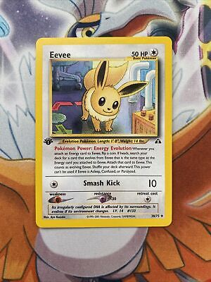 Eevee 38/75 1st Edition Neo Discovery Pokemon Card NM