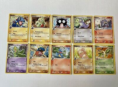 Delta Species Set Of 10 Cards! Totodile Treecko Pokemon EX Dragon Frontiers