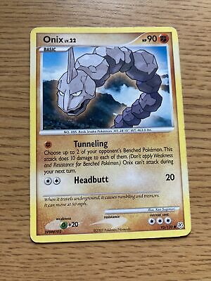 ONIX LV.22 92/130 COMMON CARD DIAMOND & PEARL Pokemon