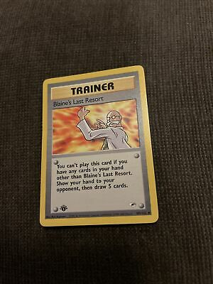 Blaine's Last Resort 105/132 1st Edition Gym Heroes Trainer Pokemon Card