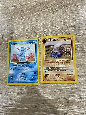 Pokemon Cards Wooper Omanyte Neo Discovery Set With Bonus Gift