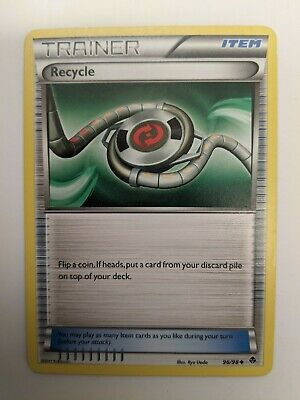 Recycle 96/98 Trainer Emerging Powers Pokemon Card  MP/ DMG