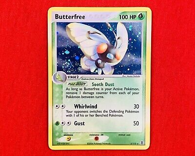 Butterfree 2/112 Holo Rare EX FireRed & LeafGreen 2004 Pokemon Card SWIRL NM ✨