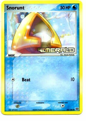 Pokemon Card SNORUNT Rare Reverse Holo 64/106 EX Emerald NM/MINT