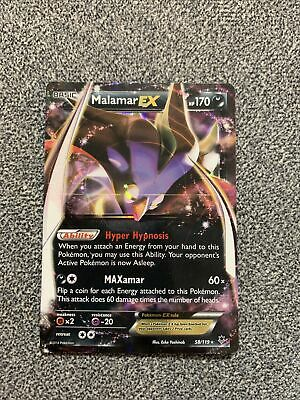 NM Pokemon MALAMAR EX Card PHANTOM FORCES Set 58/119 XY X and Y Ultra Rare