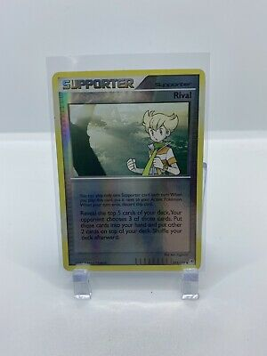 Pokemon! Rival 113/130 - Diamond and Pearl -Supporter -  NM/lp - Reverse Holo