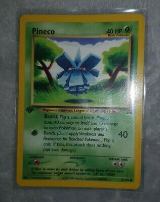 Pineco Neo Discovery 1st Edition 61/75 Pokemon trading Card common
