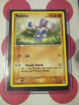 Pokemon Meditite 66/101 Ex Hidden Legends Common *combined shipping*