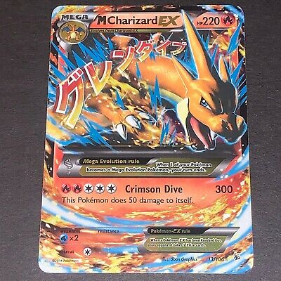 Pokemon XY Flashfire Set ULTRA RARE M Charizard EX 13/106 - Near Mint (NM)