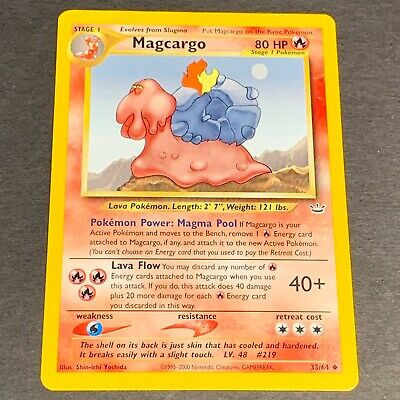 Pokemon Neo Revelation Set UN-COMMON Magcargo 33/64 - Near Mint (NM) Condition