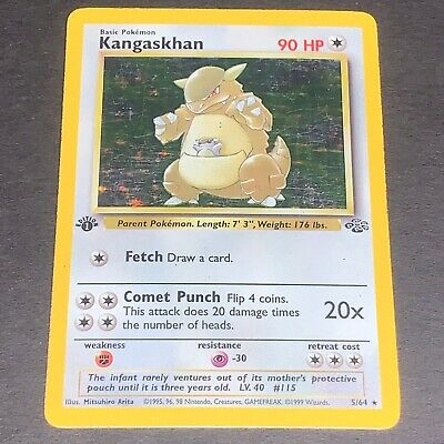 Pokemon 1st Ed. Jungle Set HOLOGRAPHIC Kangaskhan 5/64 - Played / Damaged