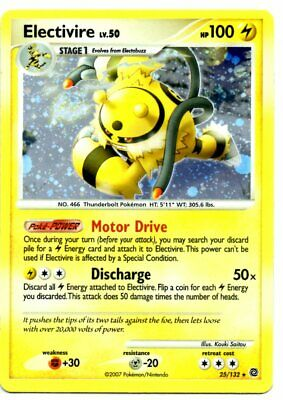 Pokemon Card ELECTIVIRE Rare Holo 25/132 Diamond & Pearl Secret Wonders NM
