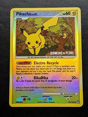 94/123 | Pikachu Reverse Holo | Mysterious Treasures | Pokemon Card | Good