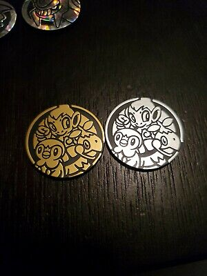 POKEMON Coins- Official TCG Coins Diamond/Pearl starters Chimchar,piplup,turtwig
